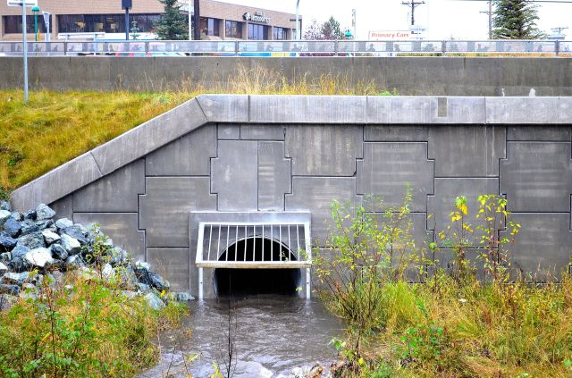 10-5-12_4_39PM_Old_Seward_Hwy_Roundabout_Furrow_Creek_West_Side_Culvert_Discharge